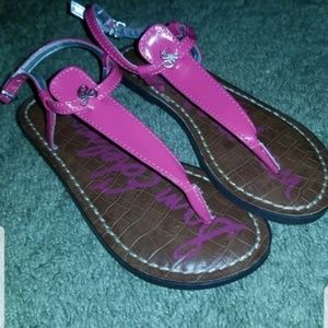 Sam Edelman pink sandals for little girls size 1